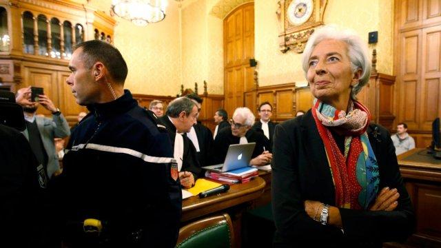 IMF总裁拉加德被判有罪,免于刑罚