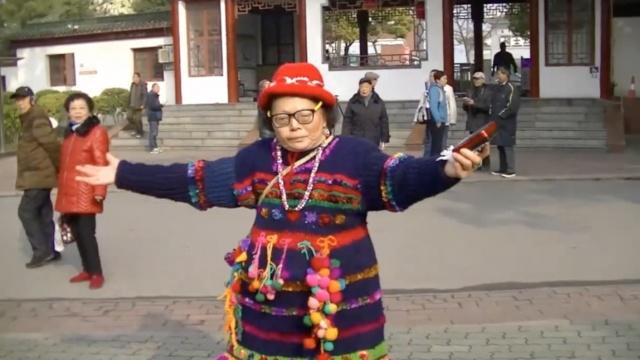 赞!老奶奶自创蹦跳舞,要跳出健康