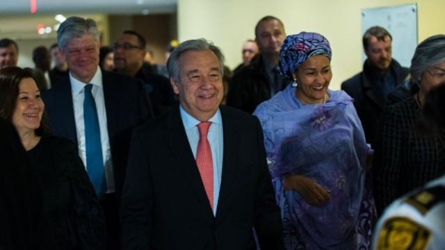 联合国秘书长古特雷斯上任第一天