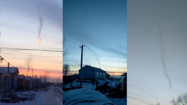 神奇!黑龙江鸡西天空现龙形云彩