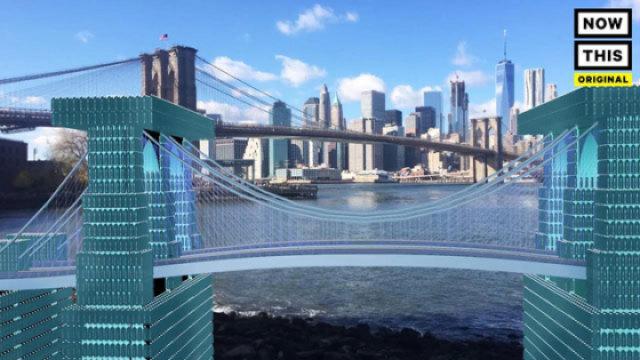 5万个塑料瓶重现纽约布鲁克林大桥