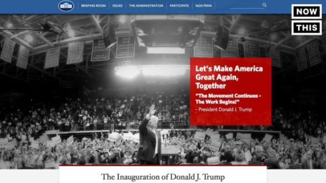 白宫网站更新,气候变化页面消失
