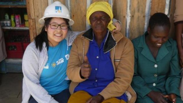 华裔女生非洲当义工:5美元过一周