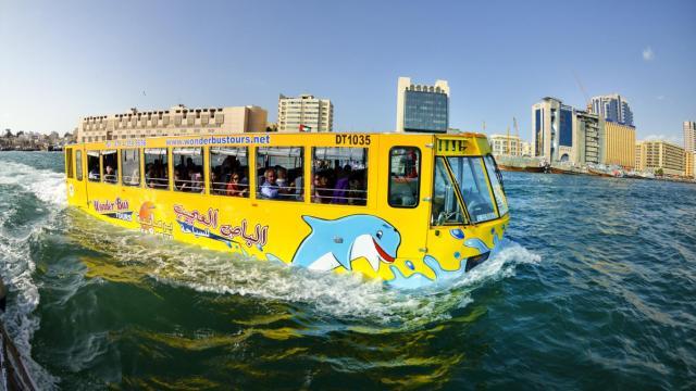 能下水的公交车,坐享水陆风情