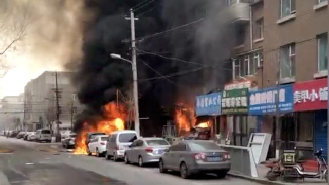 男子与妻子吵架,点燃煤气罐引爆炸