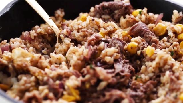 BBQ黑胡椒牛肉饭,一锅搞定的美味