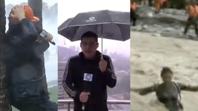 雨袭雷击!这些记者用生命在战斗