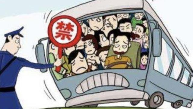 客车超载100%,司机一问三不知