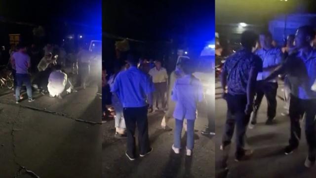 医生警察救摔倒女子,遭醉汉打骂