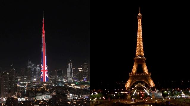 悼曼彻斯特遇难者,全球名建筑熄灯
