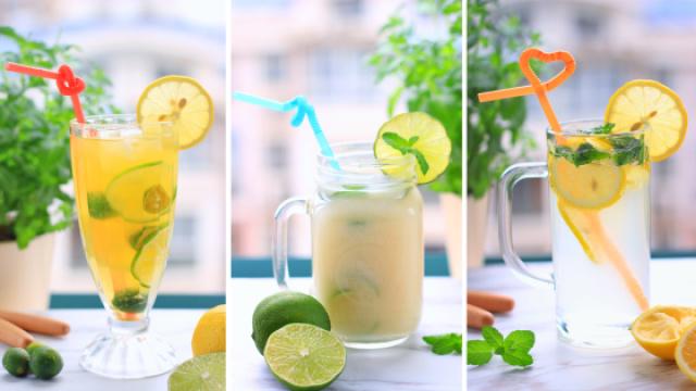 看一眼就会做的柠檬水,又酸又甜~