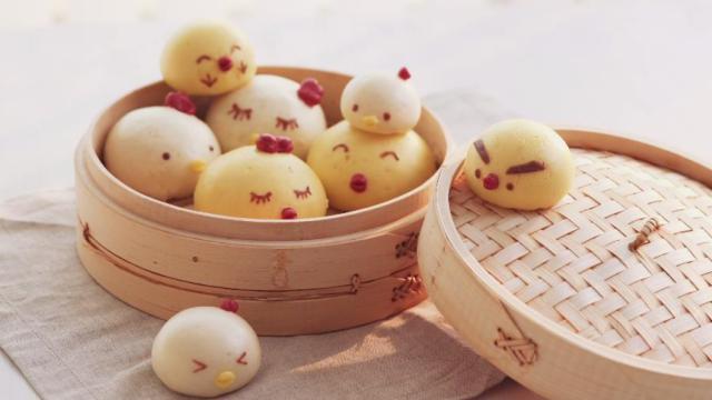 这么可爱的小鸡馒头你舍得吃吗?