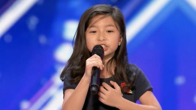 华人9岁女孩达人秀表演,惊艳全场