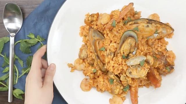 萨瓦迪卡咖喱海鲜烩饭