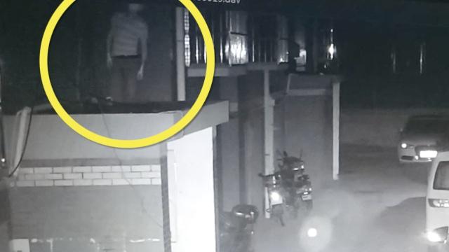 监拍:3人团伙盗窃,1人放风2人入室