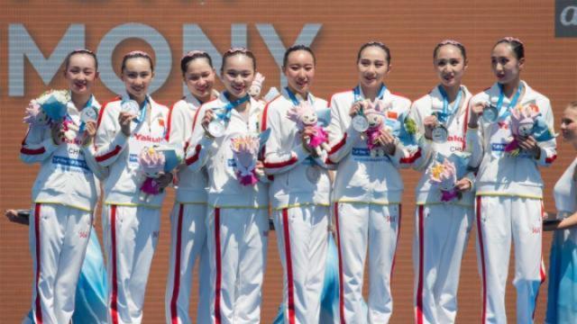 世锦赛花游集体决赛中国获亚军