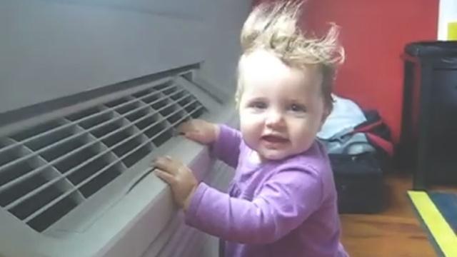 夏季给宝宝吹空调需注意这4个事项