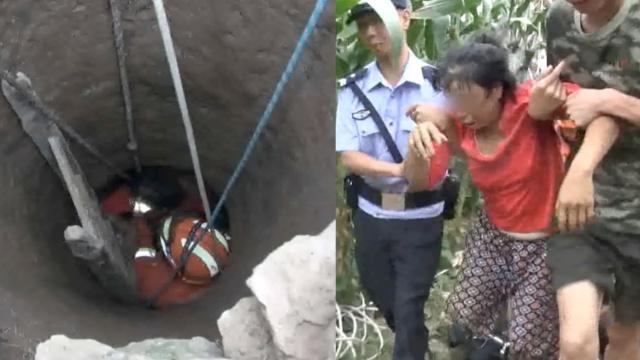 他地窖缺氧晕倒,2老人来救同被困