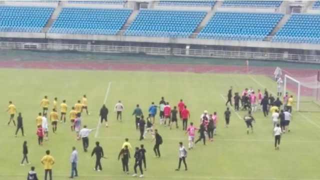足球暴力!球迷和球员教练齐上阵