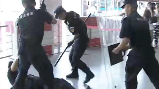 青岛反恐演练: