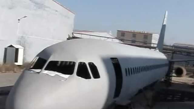 农民用40吨钢,花近百万造空客A320