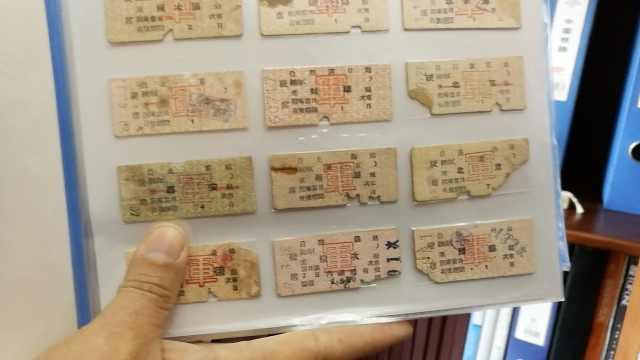 收藏达人花34年,集8万枚铁路票证