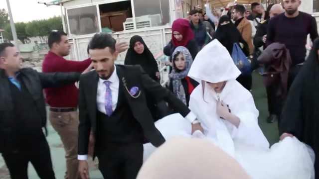 伊拉克水上婚礼:为避免枪击和堵车