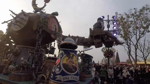 迪士尼花车攻略!长发公主专列