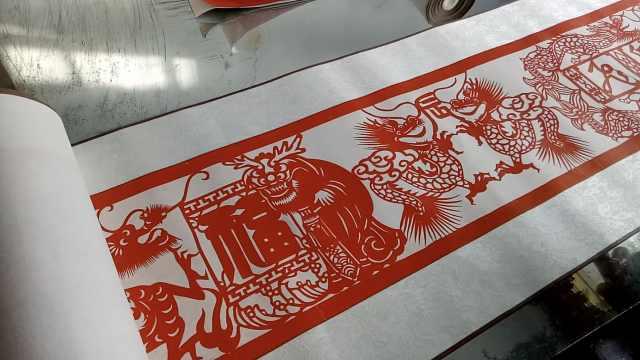 老木匠11年剪出11生肖卷,每卷20米