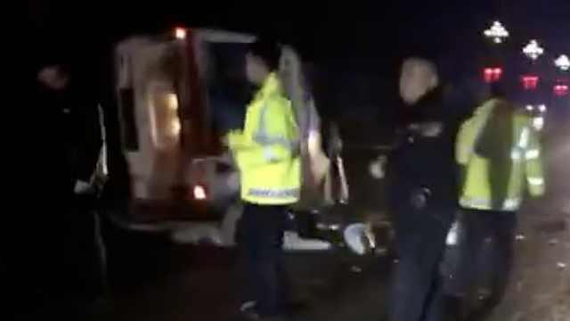 救护车出车祸,1医生与1患者身亡