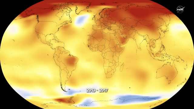NASA全景:2016年最热,2017排第二