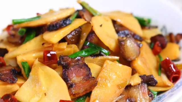 家人爱吃的下饭菜,冬笋炒腊肉