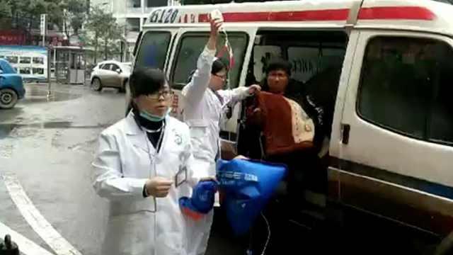 大方县交警为危重病患婴儿保驾护航