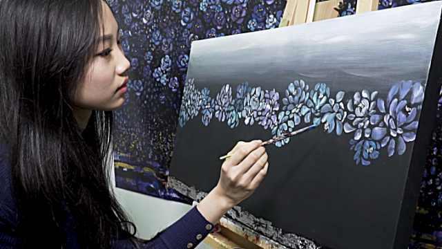 95后多动症的她在艺术中找到平静