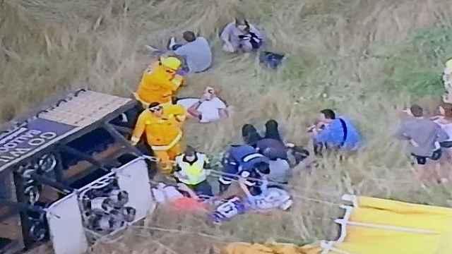 热气球遭强风吹袭坠地,致7人受伤