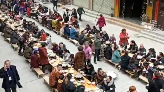 年味浓!古街千人共享庖汤盛宴