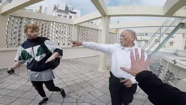 小哥闯入香港楼顶跑酷,骂保安白痴