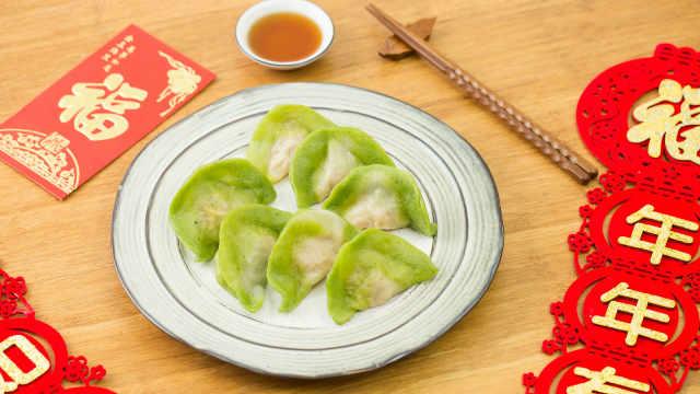 吃腻了大鱼大肉,换盘翡翠白玉饺子