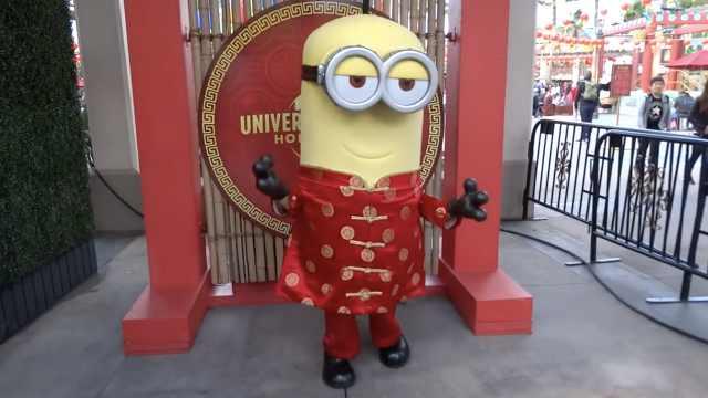 美环球影城庆春节,威震天汉语拜年
