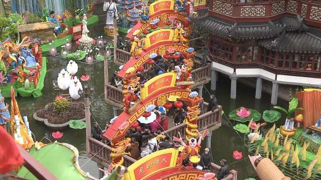 上海年俗:城隍庙烧香,豫园走九曲桥