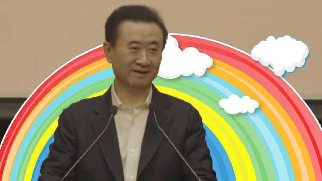 王健林新春团拜会:风雨过后见彩虹