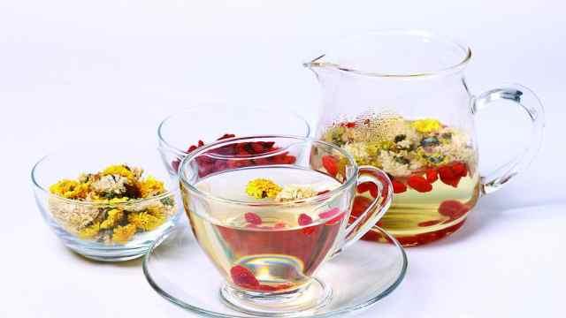 三花配茶,疏肝降压补气血