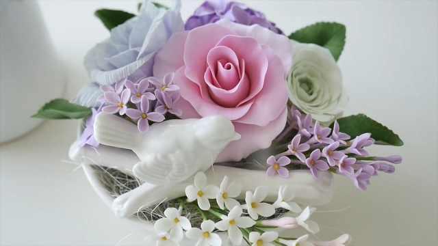 黏土初学者必看:做一支黏土玫瑰花