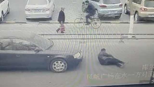 男子见车驶来飞身碰瓷,却受惊犯病?