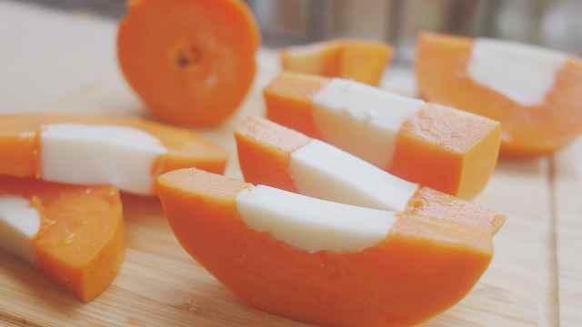 吃了不发胖的甜品:木瓜牛奶冻