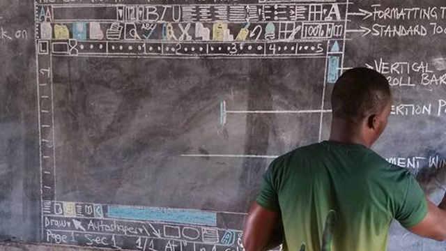 没有电脑?非洲孩子这么上计算机课