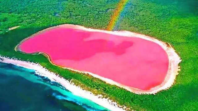 世界上最美的粉红湖泊