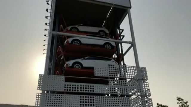 广州首个汽车自动贩卖机:刷脸提车