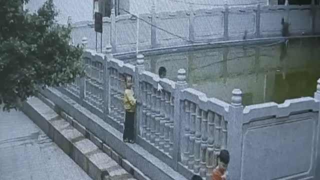 8岁男童翻护栏玩耍,落入池塘溺亡