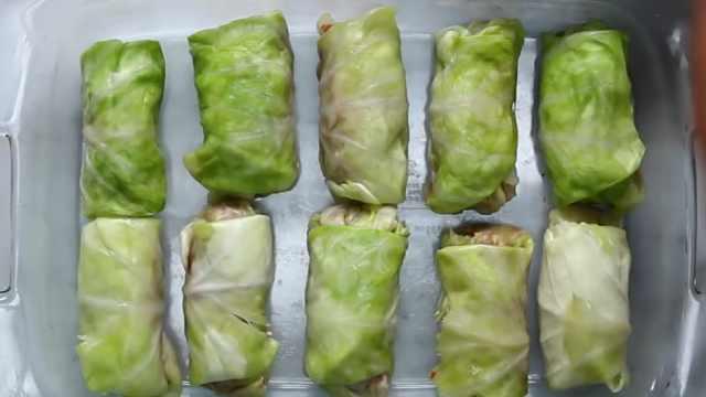 异域风味的牛肉白菜卷